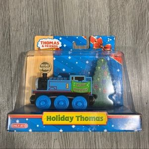 NIP Holiday Thomas Train + Tree Wooden Railway